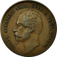 Monnaie, Suède, Oscar I, 2 Öre, 1858, TTB, Bronze, KM:688 - Suède