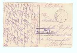 Marcophilie Guerre 1914 1918 Cachet Militaire Allemand Deutsche Feldpost SB Kgl Bayr 14 JR 6 Komp Cpa Kirche Givenchy - Storia Postale