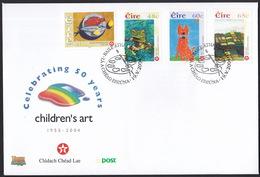 Irland Eire , 2004, Children's Art FDC - 1949-... Repubblica D'Irlanda