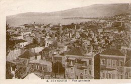 (90)  CPA Beyrouth  Vue Generale  (Bon  état) - Liban