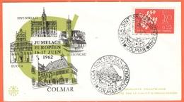 FRANCIA - France - 1962 - 0,25 Europa Cept + Special Cancel - Jumelage Européen Colmar-Lucca-Schongau-Sint-Niklaas - Not - Commemorative Postmarks