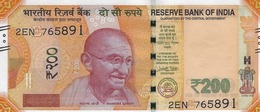 INDIA 200 RUPEES 2018 P-113a UNC SIGN. PATEL. PLATE LETTER E [IN302aE] - India