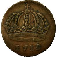 Monnaie, Suède, Carl XII, Daler, 1715, TTB, Cuivre, KM:352 - Suède