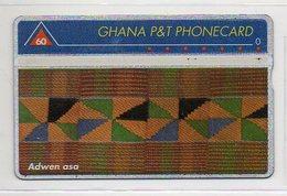 GHANA P&T PHONECARD - 60 - ADWEN ASA - Ghana