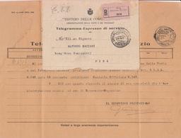 ** TELEGRAMMA-ESPRESSO DI SERVIZIO.-** - Vecchi Documenti