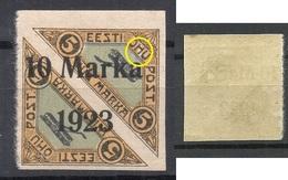 Estland Estonia 1923 Michel 43 B + Error Abart * - Estland