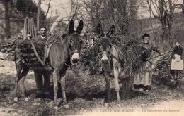 / Chézy Sur Marne - La Cavalerie Du Moncet , Belle CPA Rare , Paysans Chargeant Les Mulets - Autres Communes