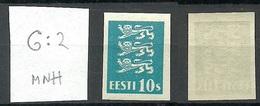 ESTLAND Estonia 1928 Michel 79 U Official ESSAY PROOF Druckprobe Probedruck G: 2 MNH - Estland
