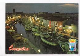 CESENATICO, Porto Canale, Notturno, Channel Port, By Night, Used Postcard [22925] - Forli