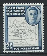 """Falkland Is.  Dependencies        """"Map""""     Set    SC# 1L13    Mint - Falkland Islands"""