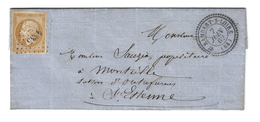 LOIRE PC4335/13B C22 ST RAMBERT S LOIRE 1862 LETTRE AVEC TEXTE POUR ST ETIENNE - Storia Postale