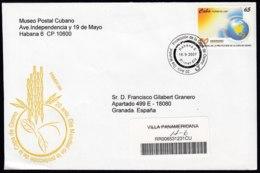 2007-FDC-111 CUBA FDC 2007. REGISTERED COVER TO SPAIN. 20 ANIV DIA MUNDIAL PROTECCION CAPA DE OZONO. - FDC