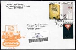 2008-FDC-37 CUBA FDC 2008. REGISTERED COVER TO SPAIN. 400 ANIV LITERATURA CUBANA. - FDC