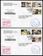 2008-FDC-40 CUBA FDC 2008. REGISTERED COVER TO SPAIN. FERROCARRIL SUBTERRANEO, SUBWAY RAILROAD, MEXICO, - FDC