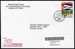2008-FDC-42 CUBA FDC 2008. REGISTERED COVER TO SPAIN. 50 ANIV III FRENTE GUERRILLERO MARIO MUÑOZ MONROY. - FDC