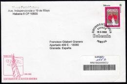 2008-FDC-43 CUBA FDC 2008. REGISTERED COVER TO SPAIN. CENTENARIO DE LA REVISTA BOHEMIA MAGAZINE. - FDC