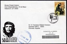 2008-FDC-46 CUBA FDC 2008. REGISTERED COVER TO SPAIN. 50 ANIV RADIO REBELDE, ERNESTO CHE GUEVARA. - FDC