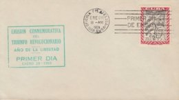 1959-FDC-99 CUBA FDC 1959. PRIMER SELLO REVOLUCIONARIO, SOLDADO REBELDE, REBELD SOLDIER. - FDC
