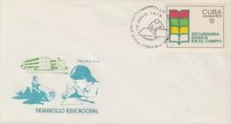 1973-FDC-63 CUBA FDC 1973. SECUNDARIA BASICA EN EL CAMPO, EDUCATION SCHOOL. - FDC