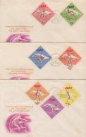 1965-FDC-65 CUBA FDC 1965. ATLETISMO, ATHLETISM, JALABILA, LANZAMIENTO DE DISCO, SALTO, MARTILLO, PISTA. - FDC