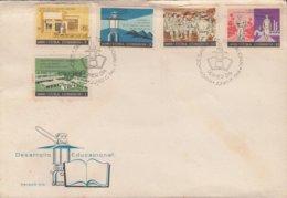 1966-FDC-69 CUBA FDC 1966. DESARROLO EDUCACIONAL, EDUCACION CAMPESINA, LITERACY CAMPAING, TARARA SCHOOL. - FDC