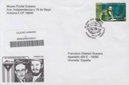 2009-FDC-51 CUBA FDC 2009. REGISTERED COVER TO SPAIN. 50 ANIV MINISTERIO RELACIONES EXTERIORES, FIDEL CASTRO, MINREX. - FDC