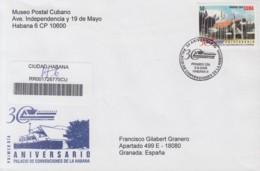 2009-FDC-52 CUBA FDC 2009. REGISTERED COVER TO SPAIN. 30 ANIV PALACIO DE LAS CONVENCIONES DE LA HABANA. - FDC