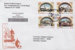 2009-FDC-53 CUBA FDC 2009. REGISTERED COVER TO SPAIN. FITCUBA. CIUDADES PATRIMONIO, HAVANA, CIENFUEGOS, - FDC
