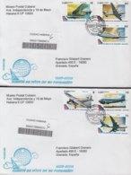 2009-FDC-57 CUBA FDC 2009. REGISTERED COVER TO SPAIN. 80 ANIV AEROLINEA CUBANA DE AVIACION AVION AIRPLANE. - FDC