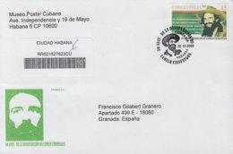 2009-FDC-58 CUBA FDC 2009. REGISTERED COVER TO SPAIN. 50 ANIV DESAPARICION DE CAMILO CIENFUEGOS. - FDC