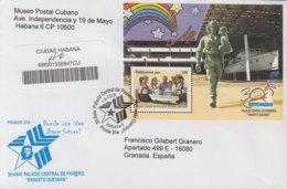 2009-FDC-71 CUBA FDC 2009. REGISTERED COVER TO SPAIN. 30 ANIV PALACIO DE PIONEROS, ERNESTO CHE GUEVARA. - FDC