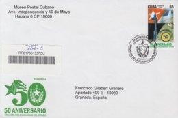 2009-FDC-74 CUBA FDC 2009. REGISTERED COVER TO SPAIN. 50 ANIV SEGURIDAD DEL ESTADO, SPY, SPIES, BANDERA, FLAG. - FDC