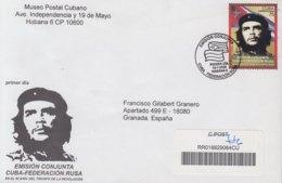 2009-FDC-75 CUBA FDC 2009. REGISTERED COVER TO SPAIN. EMISION CONJUNTA RUSIA – CUBA, ERNESTO CHE GUEVARA, RUSSIA. - FDC