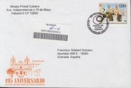2009-FDC-78 CUBA FDC 2009. REGISTERED COVER TO SPAIN. 495 ANIV FUNDACION DE PUERTO PRINCIPE, CAMAGUEY. - FDC