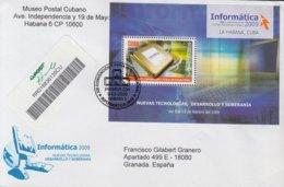 2009-FDC-79 CUBA FDC 2009. REGISTERED COVER TO SPAIN. HF INFORMATICA, COMPUTERS, INFORMATICS, CONVENCION Y FERIA. - FDC
