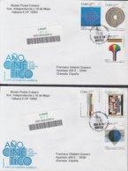 2009-FDC-81 CUBA FDC 2009. REGISTERED COVER TO SPAIN. ARTE NUESTRA AMERICA, ART, AÑO CINETICO. - FDC
