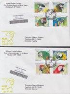 2009-FDC-84 CUBA FDC 2009. REGISTERED COVER TO SPAIN. ALAS DE LIBERTAD, BIRDS, AVES, PAJAROS, PARROT, LOROS. - FDC
