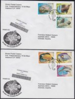 2010-FDC-65 CUBA FDC 2010. REGISTERED COVER TO SPAIN. 50 ANIV ACUARIO NACIONAL, FISH, PECES, FOCA, DOLPHINS, DELFINES. - FDC