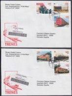2010-FDC-67 CUBA FDC 2010. REGISTERED COVER TO SPAIN. TRENES, RAILROAD, RAILWAYS, FIDEL CASTRO. - FDC