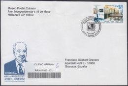 2010-FDC-69 CUBA FDC 2010. REGISTERED COVER TO SPAIN. 45 ANIV MUSEO POSTAL CUBANO JOSE L. GUERRA AGUIAR, POSTAL HISTORY. - FDC