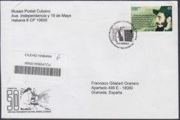 2010-FDC-70 CUBA FDC 2010. REGISTERED COVER TO SPAIN. 50 ANIV PENSAMIENTO DE FIDEL CASTRO SOBRE LA CIENCIA. - FDC