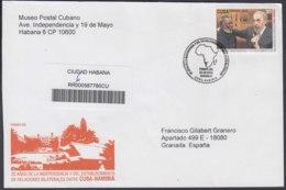 2010-FDC-77 CUBA FDC 2010. REGISTERED COVER TO SPAIN. 20 ANIV RELACIONES NAMIBIA, SAN NUJOMA, FIDEL CASTRO. - FDC