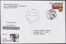 2010-FDC-81 CUBA FDC 2010. REGISTERED COVER TO SPAIN. CONGRESO DE LA UJC, ERNESTO CHE GUEVARA. - FDC