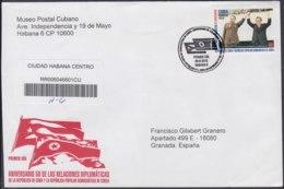 2010-FDC-87 CUBA FDC 2010. REGISTERED COVER TO SPAIN. 50 ANIV RELACIONES CON COREA, KOREA, KIM IL SUNG. - FDC