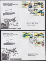 2010-FDC-90 CUBA FDC 2010. REGISTERED COVER TO SPAIN. PHILATEC EXPO SHANGHAI, CHINA. OLD AVION AIRPLANE. - FDC