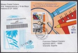 2010-FDC-96 CUBA FDC 2010. REGISTERED COVER TO SPAIN. HF CONGRESO FILATELICO NACIONAL. - FDC