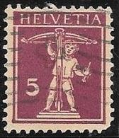 1927 5c Red Violet, William Tell's Son, Used - Switzerland