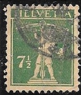 1927 7-1/2c Green, William Tell's Son, Used - Switzerland