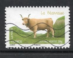 2014 La Béarnaise, Valeur Faciale: 0,61 € Timbre Oblitéré De FRANCE,  Les Vaches De Nos Régions - France