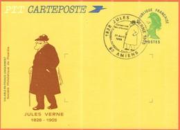 FRANCIA - France - 1985 - Carteposte Liberté De Gandon + Special Cancel Amiens Exposition Philatélique - Jules Verne - N - Biglietto Postale